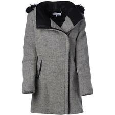 Calvin Klein 5219 Womens Gray Wool Blend Asymmetric Basic Coat Outerwear S BHFO