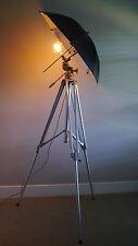 Vintage Linhof Tripod Lamp, Studio, Loft, Edison light bulb.