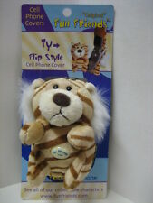 """""""TY"""" Tiger Fun Friends Plush Flip-style Cell Phone Cover NEW"""