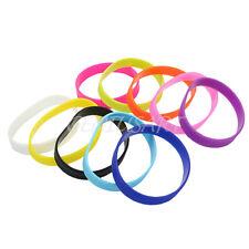 10PZ Bracciale Silicone Multicolore Braccialetto Polsino Elastico Sportivo