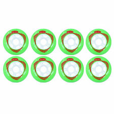 76mm  Inline Skate Wheels by Trurev for rollerblading.  (pack of 8 wheels)