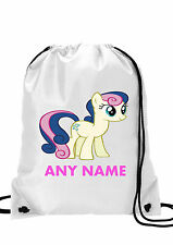 Personalised GIRL My Little Pony Bon Bon Gym BAG,Swimming PE, School Bag