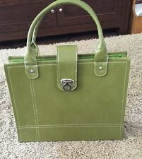 File Tote - Olive Green