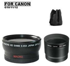58mm Digital Wide Angle Lens For Canon PowerShot G12 G11 G10