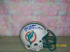 LARRY LITTLE SIGNED AUTHENTIC T/B MIAMI DOLPHINS MINI HELMET HOF93 #66