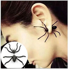 1 PC NEW Fashion Womens Halloween Black Spider Charm Ear Stud Earrings Jewelry