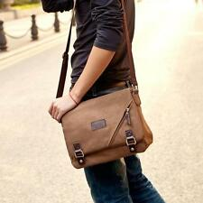 Vintage Herren Tasche Canvas Segeltuch Handtasche Schultertasche Umhängetasche