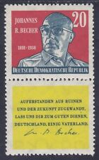 Germany DDR 566 MNH 1959 Johannes R. Becher Writer with Label