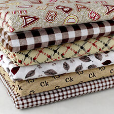 "diy Coffee 6  Assorted Pre Cut 10"" Squares Quilting Cotton Fabric"