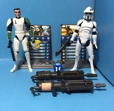 Star Wars Clone Wars 2 Clone Trooper Lot Loose Worldwide shipping