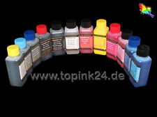 12 250ml Inchiostro Ink per Canon Pixma Pro 1 PGI 29 39 PBK pc pm GY co R MBK dgy gy