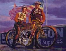 "Harley Davidson Artwork Lithograph ""Great Doings"" Painting by Tom Fritz"