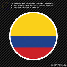 Round Colombian Flag Sticker Die Cut Decal Self Adhesive Vinyl Colombia COL CO