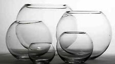 "4 X 10"" OASIS GLASS FISH BUBBLE BOWL WEDDING TABLE CENTREPIECE CLEAR VASE (41236"