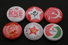 World Communist Party Button Badge Lot Mexico Greek Hungary India Romania Set 6