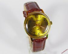 Poljot Vympel de Luxe mens wrist watch AU20 Gold plated 1MChZ USSR RARE Serviced