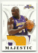 2012-13 Panini Crusade Majestic Gold Patch Jersey Shaquille O'Neal 3 Color 13/25