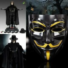 V Per Vendetta Guy Fawkes Maschera Anonymous Costumi Halloween Cosplay Vivid