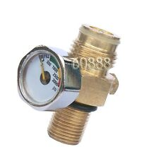Paintball Co2 Tank Pin Valve w/3000 Psi Gauge w/Thread Cover-NEW