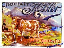Magnet émaillé CHOCOLAT KOBLER aimant émail plaque bombée CLOUET Suisse Lausane