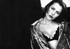 Framed Print - Gillian Anderson Black & White (Picture Poster Actress X-Files)