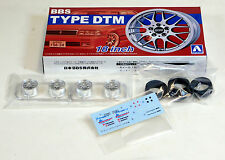 "Aoshima 1/24 BBS Type DTM 18"" Wheel & Tire Set For Plastic Models 2426 (03)"