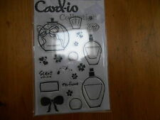 New Card-io Majestix Clear Stamps Sentiments Stamps Scent With Love