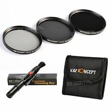 67mm Neutral Density ND2 ND4 ND8 Graufilter ND 2 4 8 Filter Set + Cleaning Pen