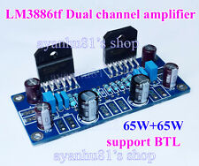 LM3886 65W+65W Stereo Audio Power Amp Board DIY Kits 65W*2 support BTL Module
