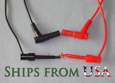 "Top Quality Replacement Test Leads w/Hook for Fluke & Other Multimeters 40"" Long"