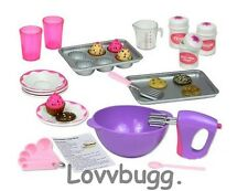"Complete Baking Set for Food for 15"" - 18"" American Girl Doll Accessories Grace"