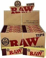 25 Packs of AUTHENTIC RAW Rolling Paper Tips Filter Spacer (50 Sheets per pk)