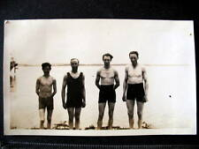 MOLDE NORWAY - Real Photo  1930 4 men in bathing suits at beach