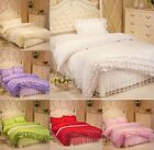 Lace Princess Duvet Cover Quilt Cover With Pillowcase Bedding Set Queen Size