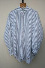 "VINTAGE RETRO POLO RALPH LAUREN LONG SLEEVED STRIPED SHIRT 17"" UK XL"
