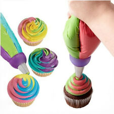 Icing Piping 3 Colors Adapter Nozzle Fondant Cake Baking Cream Decorating Tools