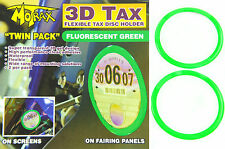 MOTRAX 3D TAX FLEXIBLE TAX DISC HOLDER FLUORESCENT GREEN