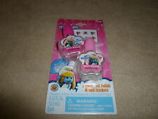The Smurfs 8 Piece Nail Polish & Nail Stickers Set~For Ages 3+, NEW IN PACKAGE!!