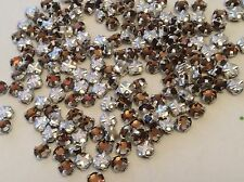 30 Vintage Swarovski Rose Montees 10ss 2.8mm Sm Topaz Prong CRAFT Post Free