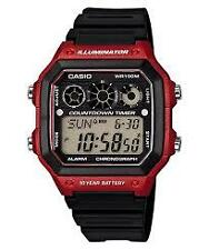 CASIO AE-1300WH-4A BLACK / RED WATCH FOR MEN - COD + FREE SHIPPING