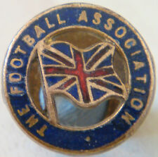 ENGLAND Rare vintage THE FOOTBALL ASSOCIATION Badge Button hole 16.5mm x 16.5mm