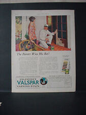 1924 Valspar Valentine Paint Painter Houswife Great Color Vintage Print Ad 11735