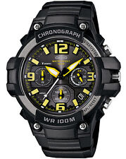Casio MCW100H-9A Men's Resin Band Heavy Duty Sport Black Dial Chronograph Watch