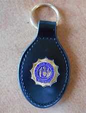 NYC Police Leather Key Ring NYPD Lieutenant Mini Shield Gold Color Novelty Item