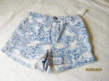 american apparel  printed four way stretch twill high waist cuff short 26