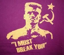 ROCKY IV IVAN DRAGO I MUST BREAK YOU FIGHT BOXING MOVIE T TEE SHIRT XL