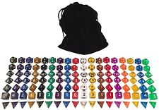 One Pound Bag- 126 Polyhedral RPG Dice- 18 Complete Sets- with Pouch