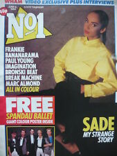 NO 1 (NUMBER ONE) MAGAZINE 9/6/84 - SADE - BANANARAMA - WHAM!