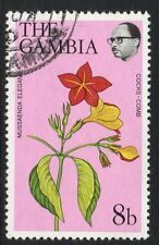 GAMBIA SG374 1977 FLOWERS & SHRUBS 8b FINE USED