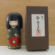 Poupée en bois mignonne du Japon / Newly designed Kokeshi Doll -- Camellia